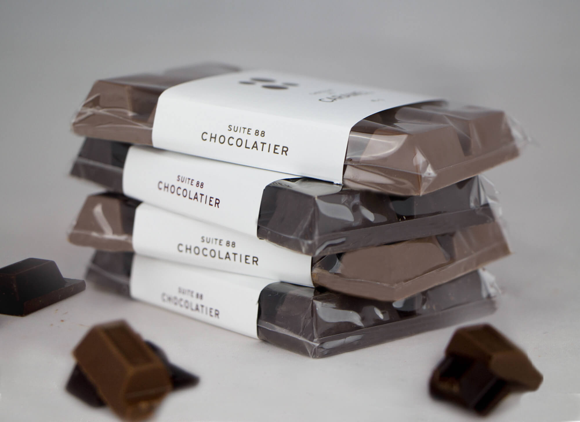 stack of chocolate bars