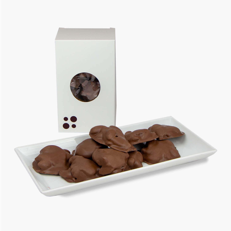 milk chocolate almond turtles