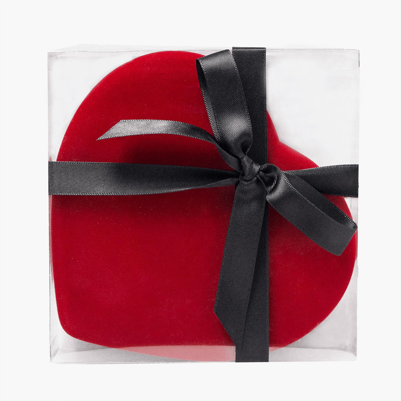 28 piece heart box with ribbon