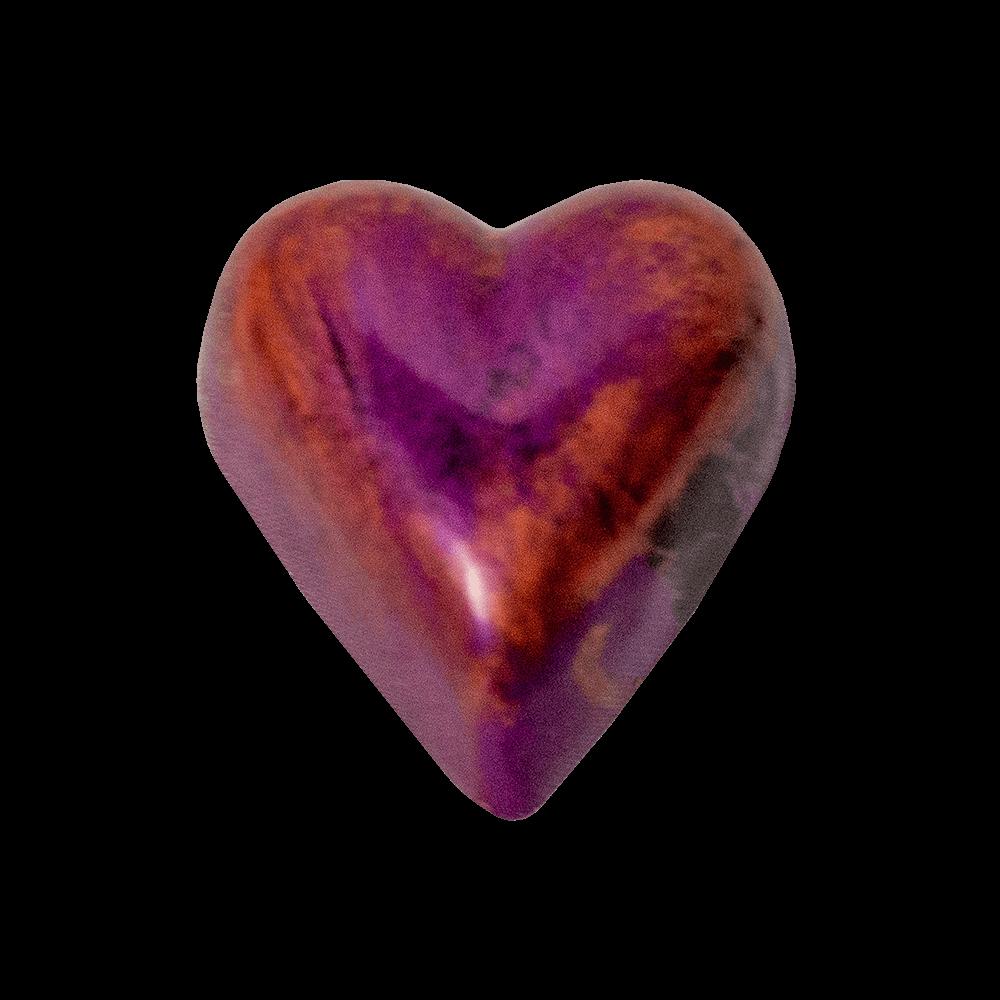 copper and purple heart