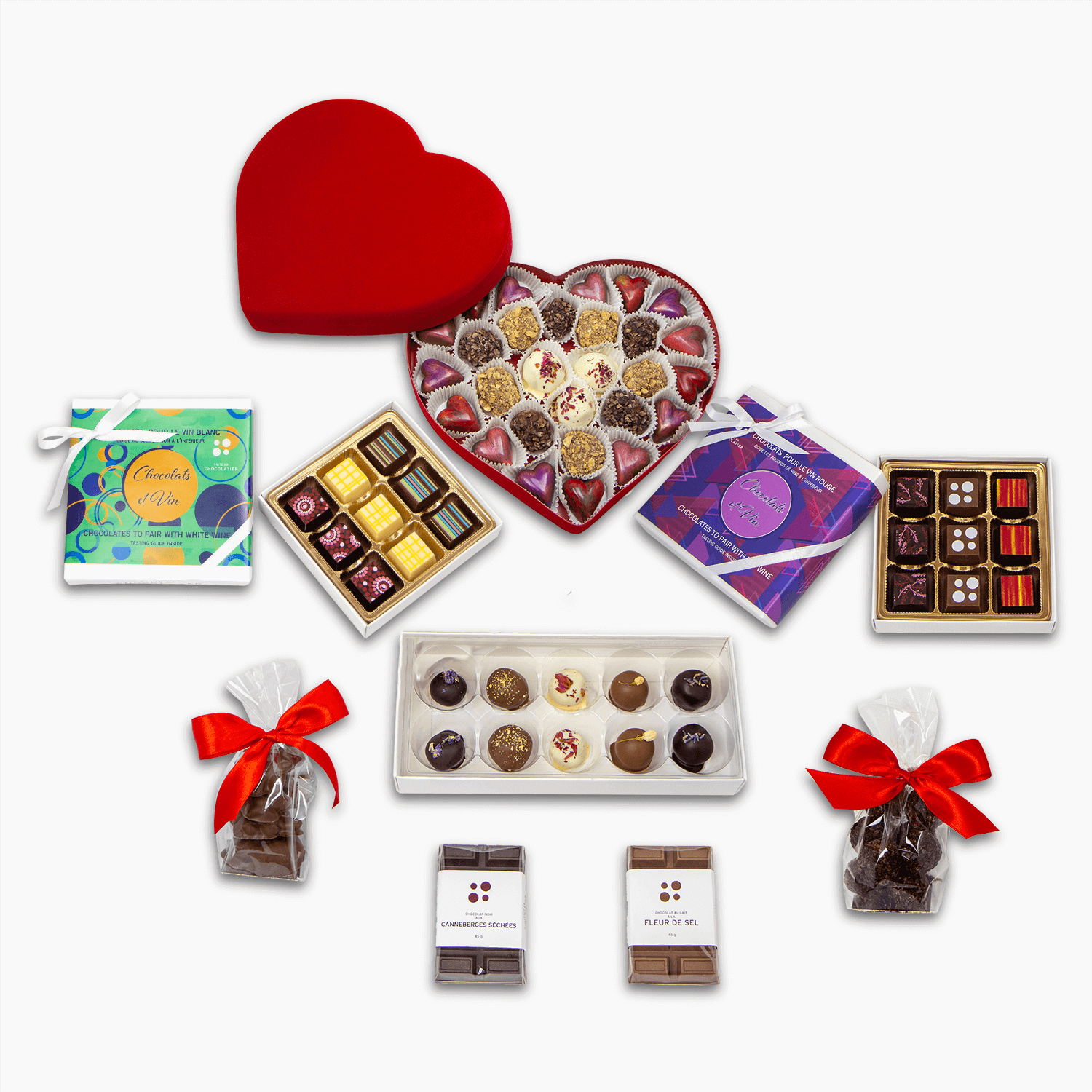 large Valentine's Day gift box contents