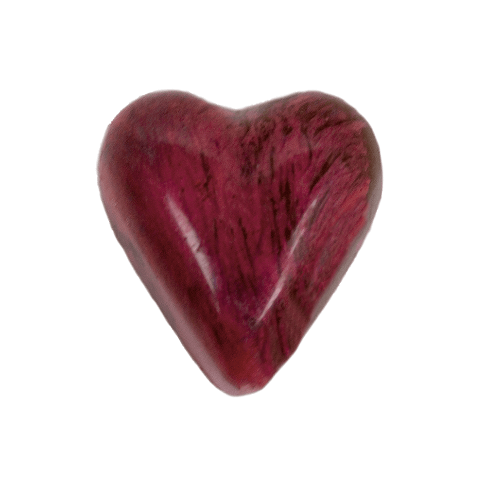 silver and pink heart